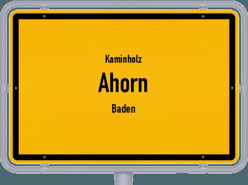 Kaminholz & Brennholz-Angebote in Ahorn (Baden), Großes Bild