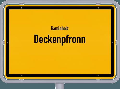 Kaminholz & Brennholz-Angebote in Deckenpfronn, Großes Bild