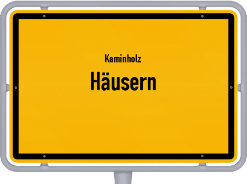 Kaminholz & Brennholz-Angebote in Häusern, Großes Bild