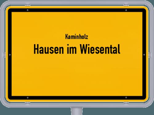 Kaminholz & Brennholz-Angebote in Hausen im Wiesental, Großes Bild