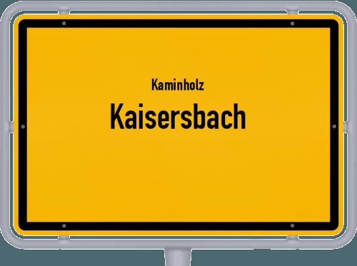 Kaminholz & Brennholz-Angebote in Kaisersbach, Großes Bild