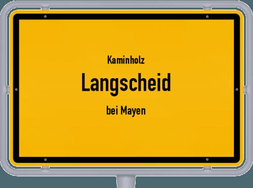Kaminholz & Brennholz-Angebote in Langscheid (bei Mayen), Großes Bild