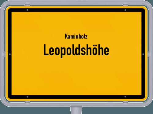 Kaminholz & Brennholz-Angebote in Leopoldshöhe, Großes Bild