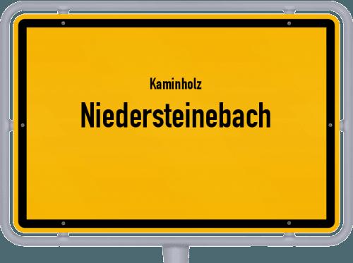 Kaminholz & Brennholz-Angebote in Niedersteinebach, Großes Bild