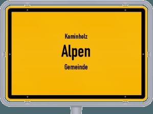 Kaminholz & Brennholz-Angebote in Alpen (Gemeinde)